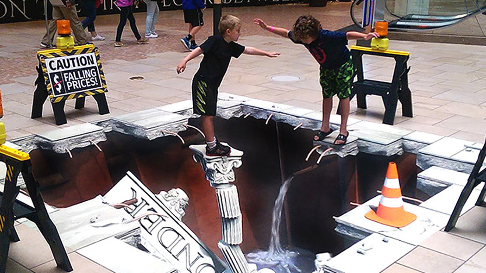 Digital 3D street paintings
